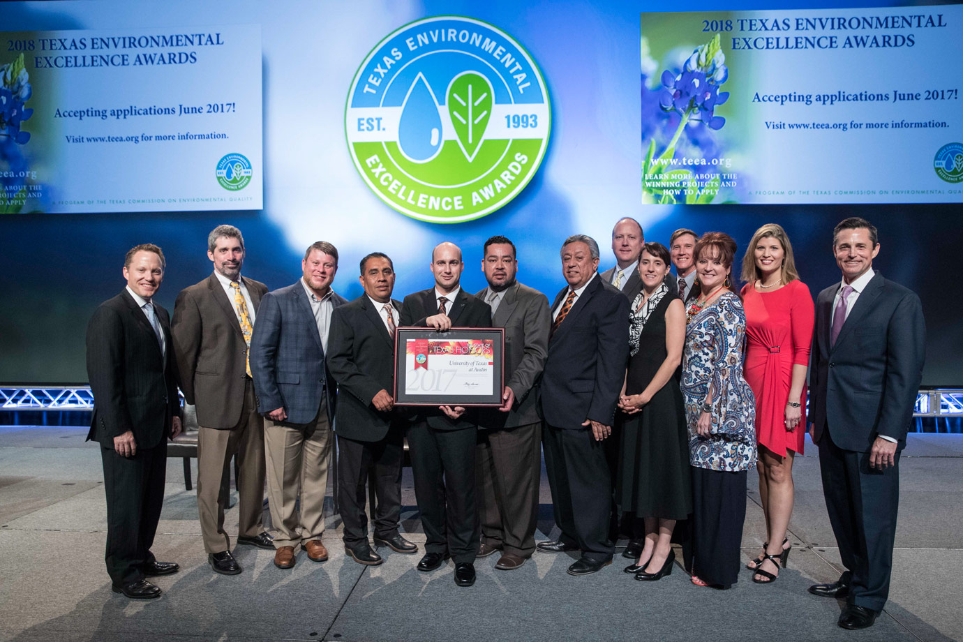 UT Austin winners of a 2017 Texas Environmental Excellence Award from the TCEQ