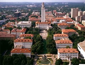 UT Campus aerial view