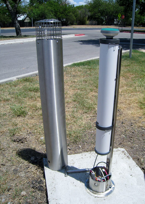 Evapotranspiration sensor (cover removed) - one of three on campus