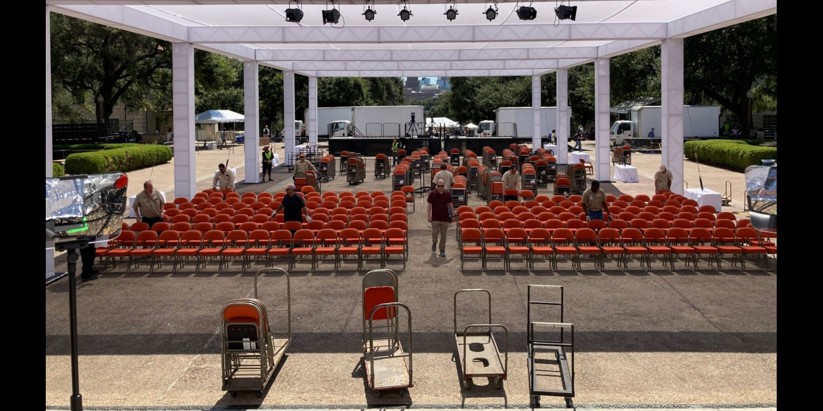 Image of Presidential Nomination setup by EMS