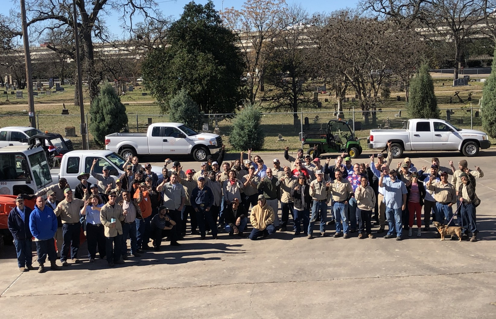 Group photo of the Landscape Services Team- 2018