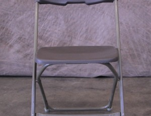 Plastic gray folding chair