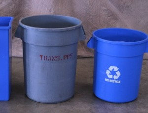 Trash and recycling containers