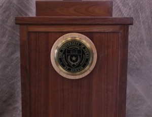 Podium with UT Seal