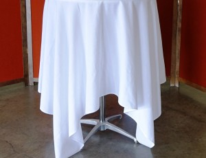 Table, cocktail with cloth